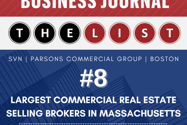 SVN | PCG RANKED 2020 LARGEST COMMERCIAL REAL ESTATE SELLING BROKERS IN MASSACHUSETTS
